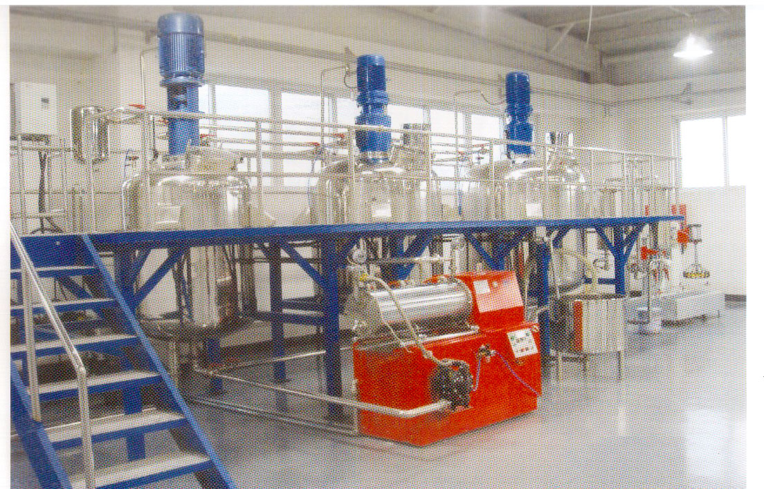 北京客户使用砂磨机配套一体化涂料生产线
